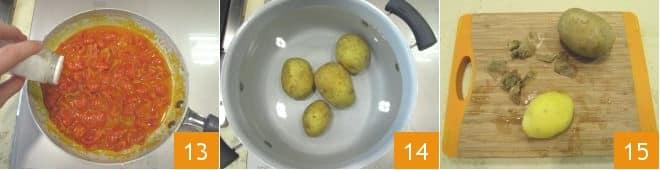 Orata in umido con contorno di patate