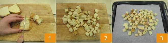 Orata affumicata su misticanza, crostini e vinaigrette al miele