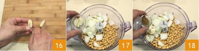 Felafel con hummus veloce e salsa allo yogurt