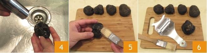 Come pulire il tartufo