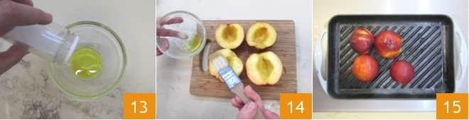 Pesche ripiene di robiola con salsa di ciliegie piccante