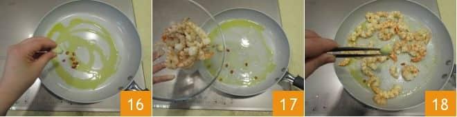 Pasta senza glutine con pesto di pistacchi, gamberi e pomodori secchi