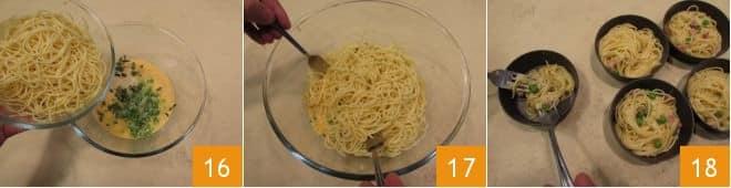 Frittatine al forno di spaghettini