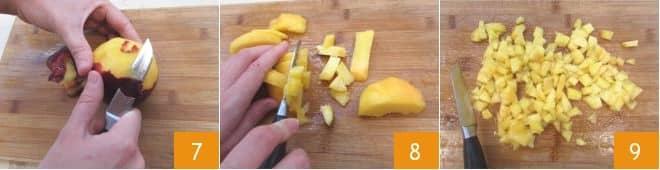 Insalata di pasta con le pesche