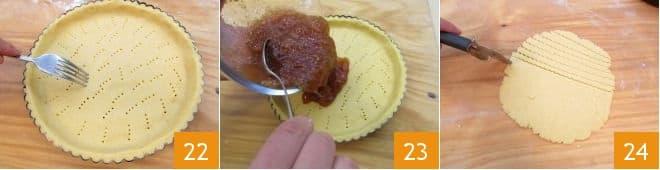 Crostata con confettura di fichi