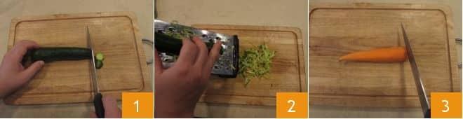 Fusilli integrali alla crudaiola con verdure, semi di zucca e ricotta salata
