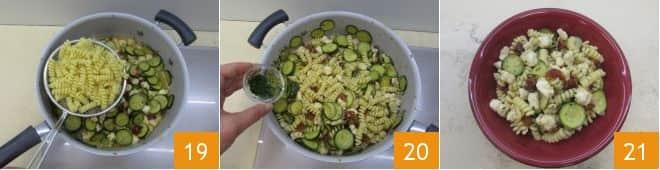 Pasta con coda di rospo, zucchine e pomodori secchi