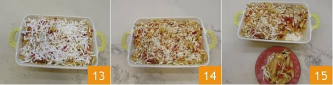 Penne gratinate al pomodoro e ricotta salata