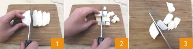 Mezze penne integrali gratinate con tomino, fichi e noci