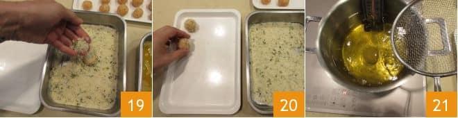 Polpettine fritte al salmone e patate con maionese veloce alla paprika