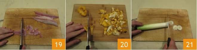 Lasagne al ragù di sgombro e funghi