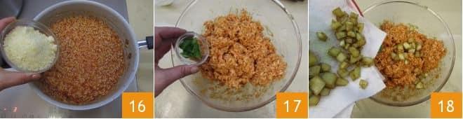 Melanzane ripiene di riso con cuore filante