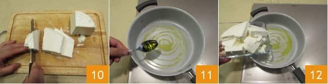 Reginette con crema di ricotta e dadolata di pesce spada