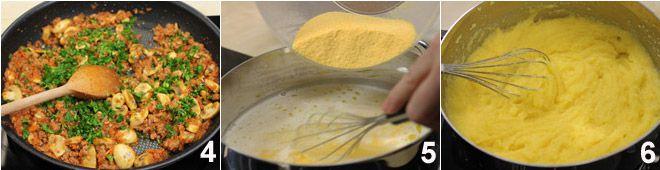 Rotolo di polenta con salsiccia e funghi