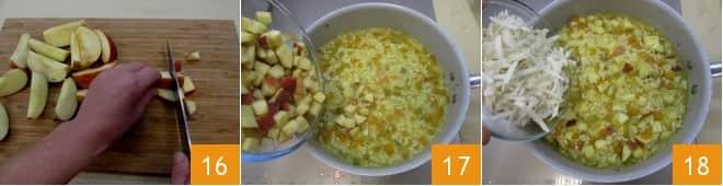 Risotto alle mele, zucca piccante e salvia