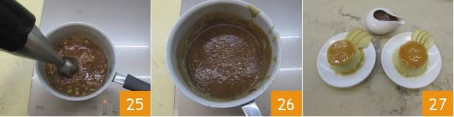 Creme caramel alle mele con salsa di fichi