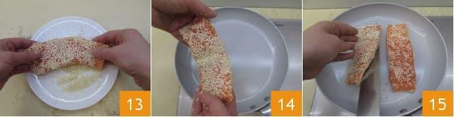 Filetto di salmone croccante con salsa Chardonnay