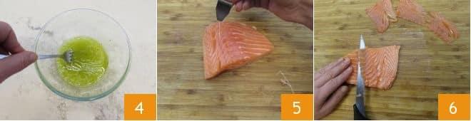 Rotolini di piadina con salmone, avocado e crema allo yogurt