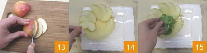 Cestini di Parmigiano con insalata croccante alle mele