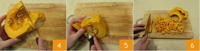 Pasta con zucca e pangrattato