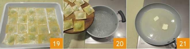 Ravioli ricotta e spinaci burro e salvia