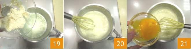 Bignè con crema pasticcera al parmigiano e lime