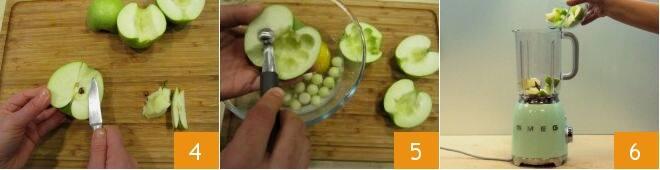Bicchierini di mele e pompelmo