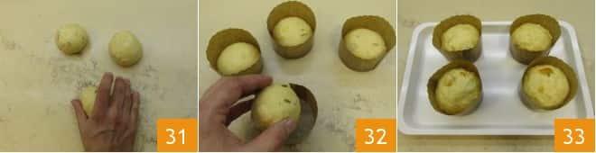 Panettoncini con mandarino candito e rosmarino