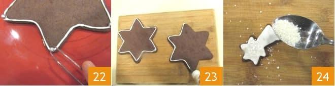 Alberello di biscotti al cacao