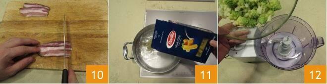 Pasta con broccolo romanesco e pancetta