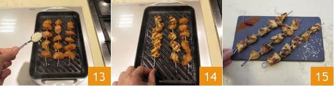 Spiedini di pollo piccanti