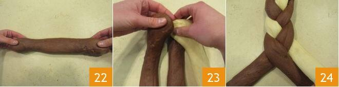 Corona pasquale al cacao