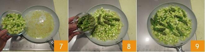 Pasta con asparagi e pancetta