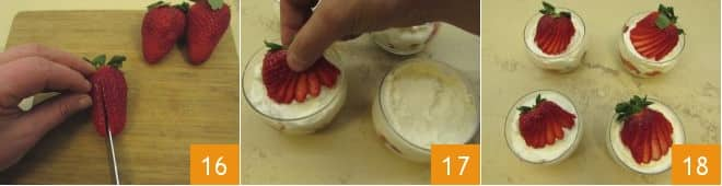 Tiramisù alle fragole senza uova