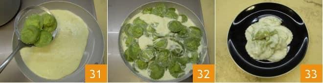 Ravioli di ortiche con fonduta