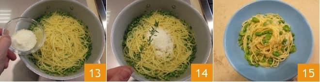 Pasta con fave e piselli