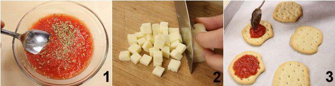 Schiacciate pomodoro e mozzarella
