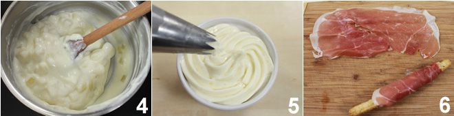 Sfilati alle olive con prosciutto crudo e Montasio