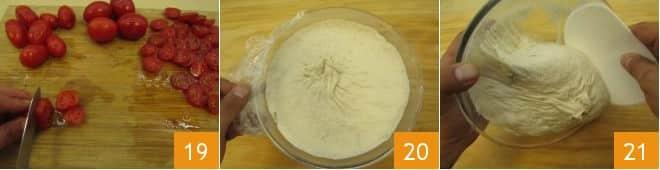 Schiacciatina con pomodori e ricotta