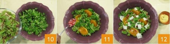 Салат из хурмы и граната