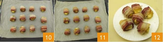 Bocconcini di castagne e bacon