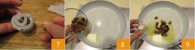 Sogliola arrotolata alle erbe e olive