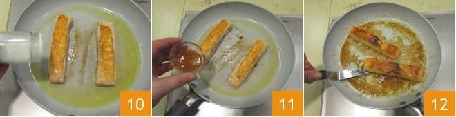 Salmone caramellato al miele