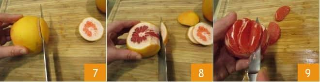 Nasello croccante con insalata di pompelmo