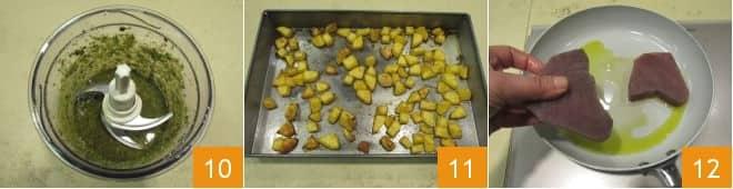 Filetto di tonno al pesto di pistacchi