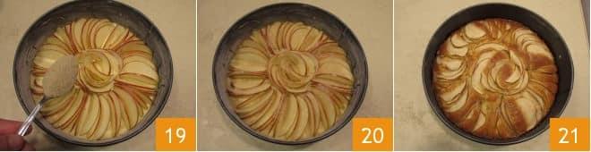 Torta di mele a raggi