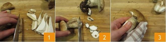 Orzotto con funghi e mele