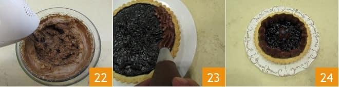 Crostata mirtilli e cioccolato