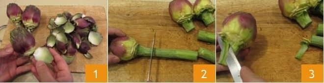 Penne ai carciofi e pomodoro