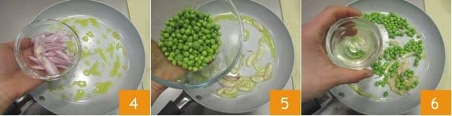 Pasta con baccelli di piselli